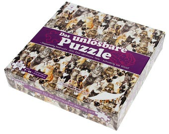 Unsolvable Puzzle - Cats and Dogs - Impossible Puzzle - Riddle - Rap on the Head - Complicated Puzzle - Party Game - Christmas Gift