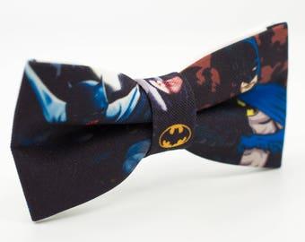 Bow tie for kid Batman Bow Tie Unique Bow Tie Black Bow Tie Hero bowtie Party favors Batman bowtie Toddler gift Kids bowtie Children bowtie