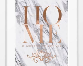 H O M E / Real Foil Print / A4 - A3 / Foil & Background Options / Modern / Wall Art