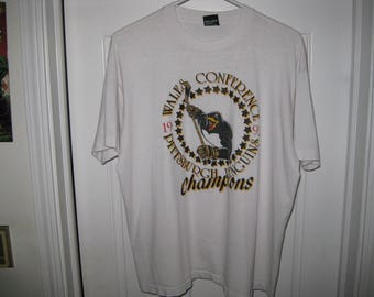 vintage 1992 Pittsburgh Penguins hockey t-shirt