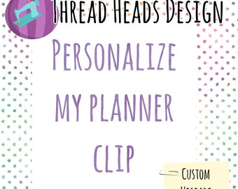 add personalization to one planner clip