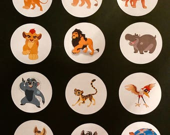 Precut The Lion Guard Character edible images to decorate your cupcakes, cookies or cake with.