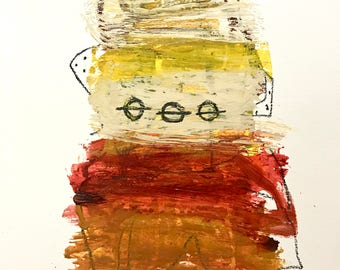 Original Abstract Art on paper, contemporary art, expressionism
