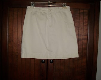 Vintage GAP Light Tan Cotton Khaki Short Skirt, Size 2