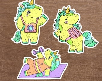 Glory the Unicorn Die Cuts, Set of 3, Plantasia Friends, The Unicorn Squad