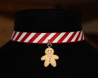 Christmas Gingerbread Man Choker