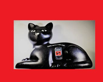 Union Carbide Eveready Battery Black Cat Bank