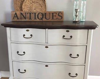 French Provincial Dresser | Antique Dresser | Chalk Painted Dresser