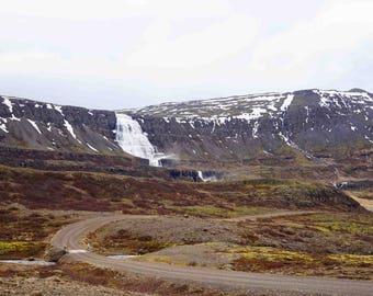"Fine Art Iceland Landscape Photography Wall Decor 4""x6"" prints | Dynjandi Iceland Waterfall"
