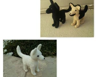 Plush Crochet German Shepherd Dog