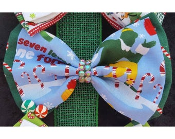 Buddy the elf themed bows