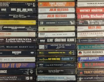 Cassette Tapes#1- Rock, Soundtracks,R&B. See list below.