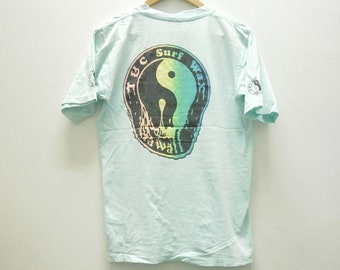 Rare! Vintage 80s T&C Town and Country Surf Design Surf Wax t shirt size M