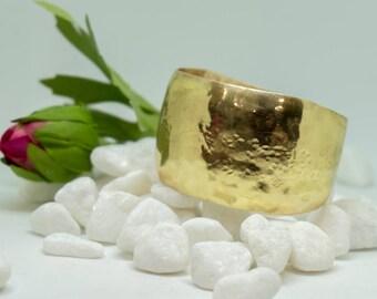 Hand made, handcrafted, brass, cuff bracelet