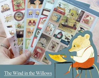 "Stickers 5 sheets set ""The Wind in The Willows"""