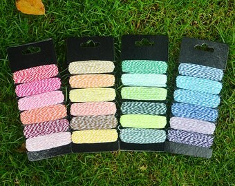 Bakers twine string in 4 packs of 5 colors listed here