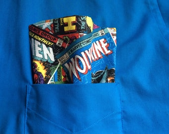 Comic Book Youth Pocket Square, Superhero youth pocket square, youth pocket square, iron man pocket square, marvel acc, junior groomsmen acc