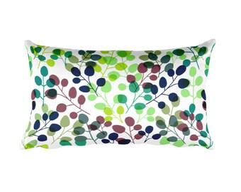 Fall pillow, Leaf pillow, nature pillow, bright pillow, Fall decor