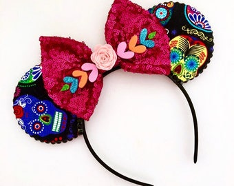 The Day of the Dead - Handmade Mouse Ears Headband