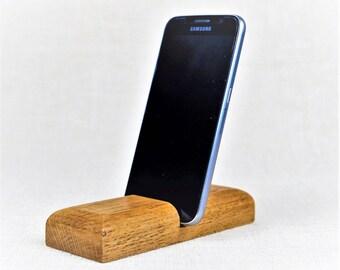Handmade - Mobile Phone - Docking Station - American Oak - FREE SHIPPING