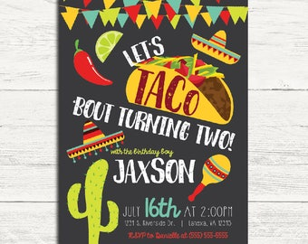 Taco 'bout Two Invitation