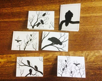 Hand Drawn Vulture Greeting Cards
