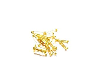 10 prong pin gold 27mm x 7mm