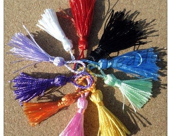 5cm Tassels, Tassels, Craft tassels, Mini tassels, Tassels with loop, Coloured tassels