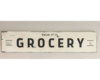 Customized Grocery Sign