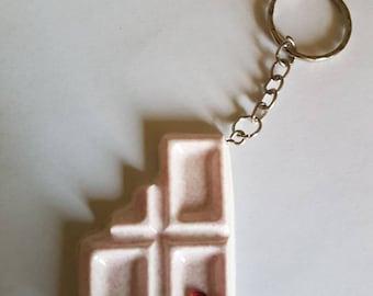 Kawaii chocolate keychain