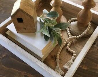 Farmhouse Decor, Decorative Tray, Rustic, Wooden, Coffee Table