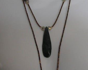 B.C. Jade Double Strand Necklace