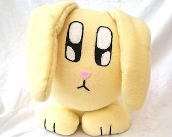 "Handmade 11"" Bunny-Rabbit 'Cushion-Head' soft toy"