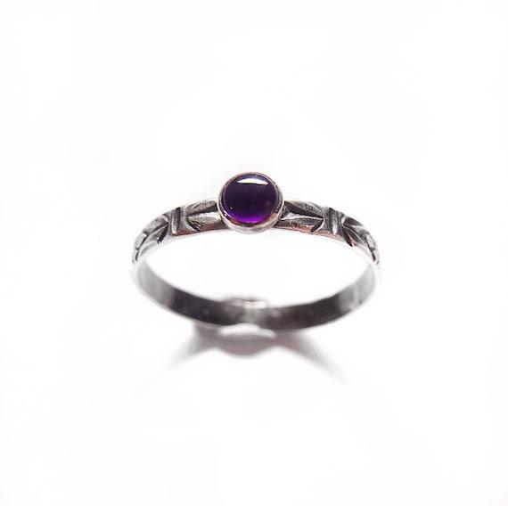 Amethyst Stacker Ring / Amethyst Stacker / Amethyst Ring / Silver Stacker Ring / Stacking Ring / Amethyst / Womans Ring / Minimalist Ring