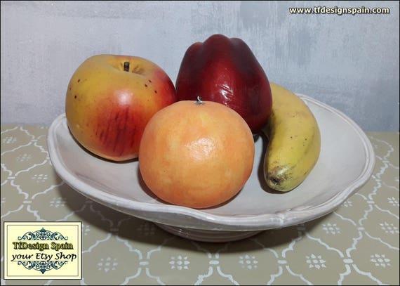 Fruit bowl, Fruit bowl ceramic, Fruit bowl Etsy, Fruit bowl gift, Fruit bowl white, Fruit bowl kitchen, Fruit bowl on table, 33 cm diameter