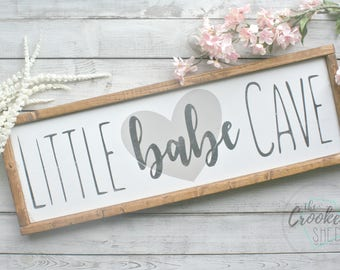 babe cave, wooden signs, nursery decor, rustic home decor, girls room decor, custom wooden signs, gift for her, bridal shower, baby shower