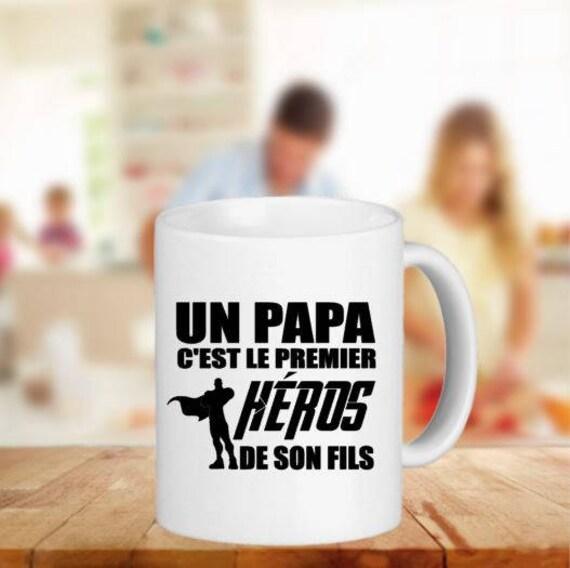 mug tasse personnalis papa h ros de son fils id e cadeau. Black Bedroom Furniture Sets. Home Design Ideas
