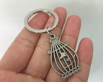 Birdcage keychain, Birdcage  gifts key ring