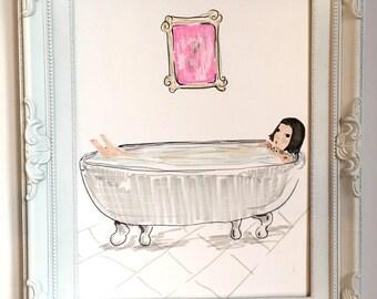 Bathtub blues print A4