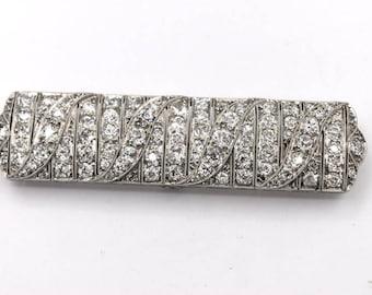 Platinum Art Deco Diamond Pin/Brooch
