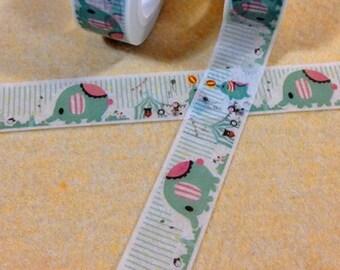 Washi Tape, Masking Tape or Ribbon circus ELEPHANT scrapbooking adhesive
