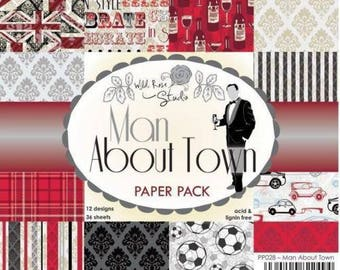 two pockets 15.2 36 papers x 15.2 cm Wild Rose MAN ABOUT TOWN