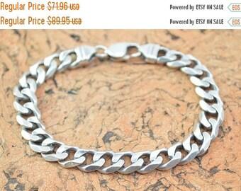 BIG SALE On Sale Curb Chain Bracelet Sterling Silver 29.7g
