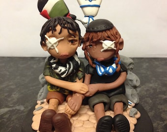 "Clay Figure, ""Whose Eye for an Eye"", Children, Suffering, Israel, Palestine, War, Conflict"