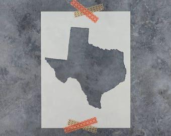 Texas Stencil - Hand Drawn Reusable Mylar Stencil Template
