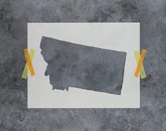 Montana State Stencil - Hand Drawn Reusable Mylar Stencil Template