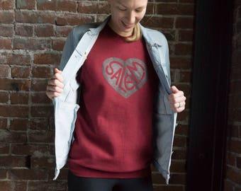 Salem! Heart Sweatshirt - Red