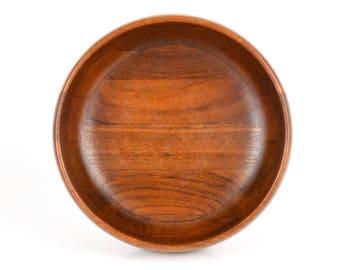 Vintage Mid Century Modern Atapco Staved Siamese Teak Bowl Hand Crafted Scandinavian Design Serve Ware Hong Kong c1960s