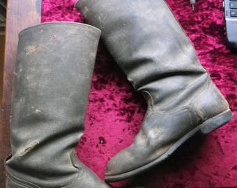 Soviet army jack boots / / EU - 42 / US - 8,5 / UK - 7,5 / strongly used