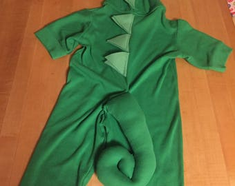 Special cotton knit: Pascal inspired child's chameleon lizard costume